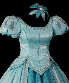 Adult Little Mermaid Aqua Ball Gown Custom Costume.