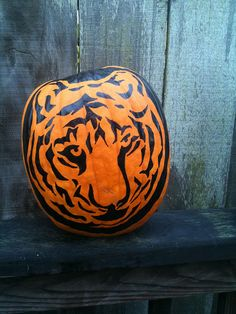 Painted Tiger Pumpkin