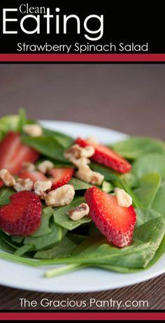 Strawberry Spinach Salad #CanadaDay