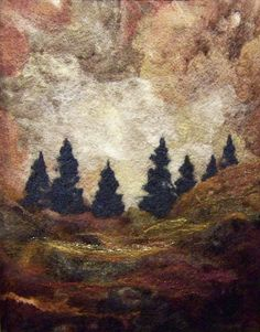 felted needlework landscape-I want to get into this