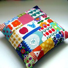 Scandinavian Patchwork Cushion / Made by Lisa Jane £26.00, via Etsy.
