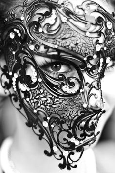 Eyes behind the mask.