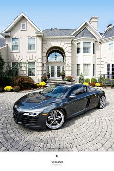 Not sure what I want more, the house or the R8 ;) celebr sport, luxuri sport, car collect, car luxuri, audi r8, sport cars, luxuri life, hous, dream car