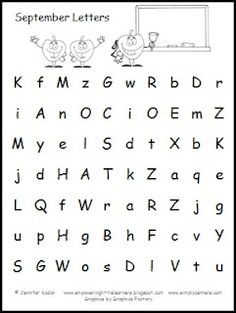Letter Naming Monthly Freebie
