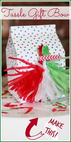 make a tassle gift b