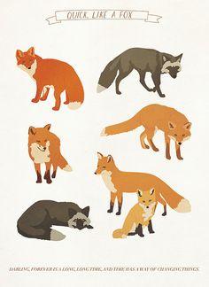 fox print on etsy