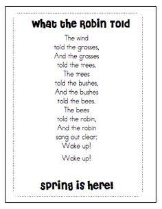 Spring poem Idea...