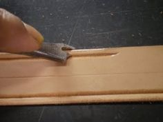 A Sailor's Leather: Homemade Leather Tools.