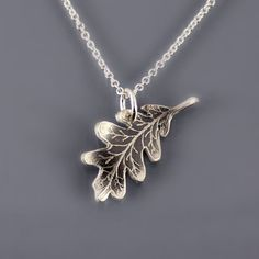 Silver Oak Leaf Necklace by Lisa Hopkins Design