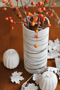 Birch bark painted vase
