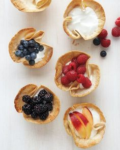 Tortilla Cups with Yogurt and Fresh Fruit Recipe