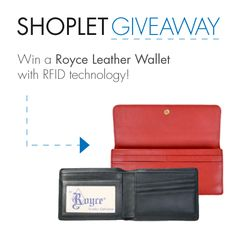 Win a Fancy Royce Leather Wallet! Repin, then go to our blog and leave us a comment about why you're so super excited for the holidays :) Good luck!