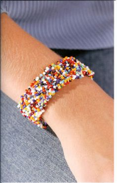 Easy crocheted beaded bracelet   - instruction