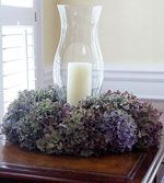 How to Dry Hydrangeas  like the simple arrangement