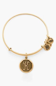 "Alex and Ani 'Initial' Adjustable Wire Bangle in ""S""C""S"""