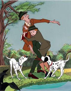 *PERDITA, ROGER, ANITA & PONGO ~ 101 Dalmatians, 1961.......and this is how they met