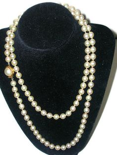 1960s Majorica pearls by Cherrybombsvintage on Etsy, $150.00