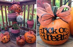 More vinyl lettering ideas for pumpkins for Halloween