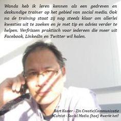 Recommendation Bart Koster | Zin Creatie|Communicatie
