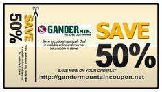 View Gander Outdoors Deals How to Use Coupons and Codes. How to use Gander Mountain coupons and promo codes: Click on the shopping bag to see the summary of your order. Enter one of the promo codes below in the labelled field. Click APPLY to see your discount and continue checkout.
