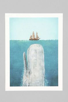 Terry Fan The Whale Art Print - Urban Outfitters $24