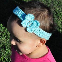 Crocheting: Butterfly Headband.
