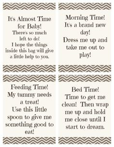 """Time for Baby"" Shower Gift + Free Printable Gift Tags"