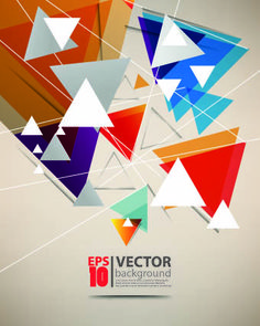 Abstract Object background 04 vector
