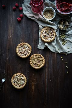 Raspberry Cardamom Almond Tarts | Guest Post by Two Red Bowls