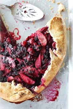 pear + berry galette