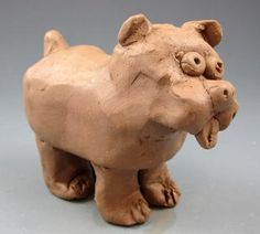 Clay dogs by my students if 4th and 5th grade.  You can read more about them on my website http://www.johnpost.us/
