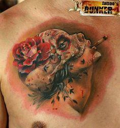 life, smoke sugar, mikki volkova, sugar skull, roses, awesom tattoo, katerina mikki, tatoo, ink