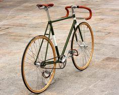 bici_scattofisso_vintage school looks, gear, color, frames, bicycl, wheels, old school, oliv, retro bikes