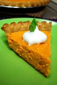 Sweet Potato Pie Recipe (Video) |   Southern sweet potato pie for about 150 calories per serving