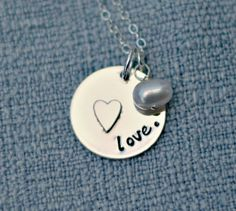Mommy Necklace Mommy Jewelry Hand Stamped by 3LittlePixiesShoppe, $41.00