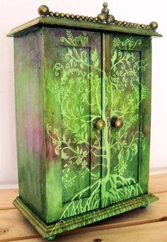 This cupboard. I love painted furniture.