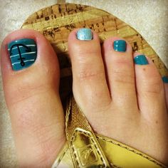 Turquoise Nautical Pedicure