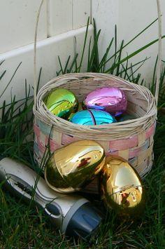 Flashlight egg hunt. #Easter #Egghunt #Activity