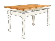DIY Butcher Block Harvest Table. Full directions to make your own are on the web site.