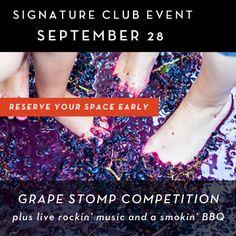 September 28, 2013 - Rodney Strong Vineyards Grape Stomp Competition and Smokin' BBQ in Sonoma! #SonomaHarvest2013 #wineharvestevents #wineevents