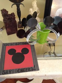 "Ears for the kids to wear with a sign....""we got ears say cheers!"""