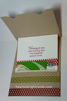 Heart's Delight Cards: Sliding Gift Card