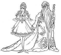 Russian Father Frost Coloring Pages