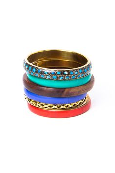 Assorted bangle set