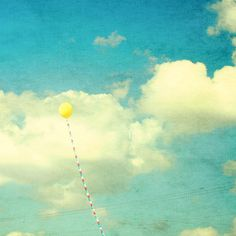 Yellow Balloon Love by Beverly LeFevre