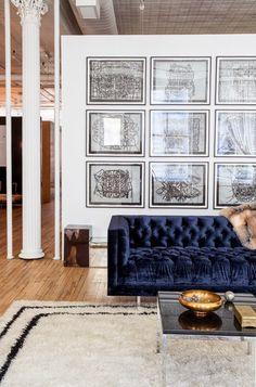 the velvet couch