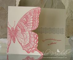 handmade greeting card from Stamping Impressions ... swallowtail butterfly ... great use of the large stamp ... card cover trimmed to the edge of the wings ... Stampin' Up!