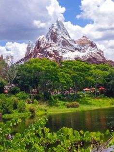 Expedition Everest, Bay Lake, Florida - Great view of Disneys Expedition Everest in the Animal Kingdom from a very hot summer day