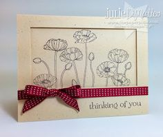The Paper Pixie: Pleasant Poppies Thinking of You