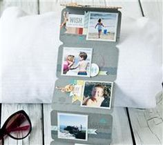 Share your memories of a family vacation with this folding mini-album!